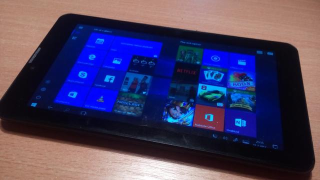 Using Windows 10 on an Android tablet