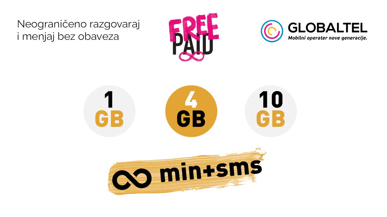 Globaltel Freepaid ponuda