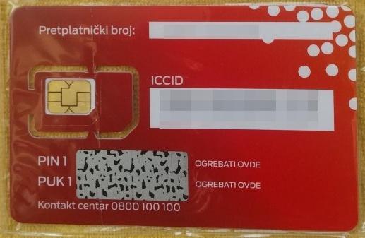 mts Prepaid SIM kartica