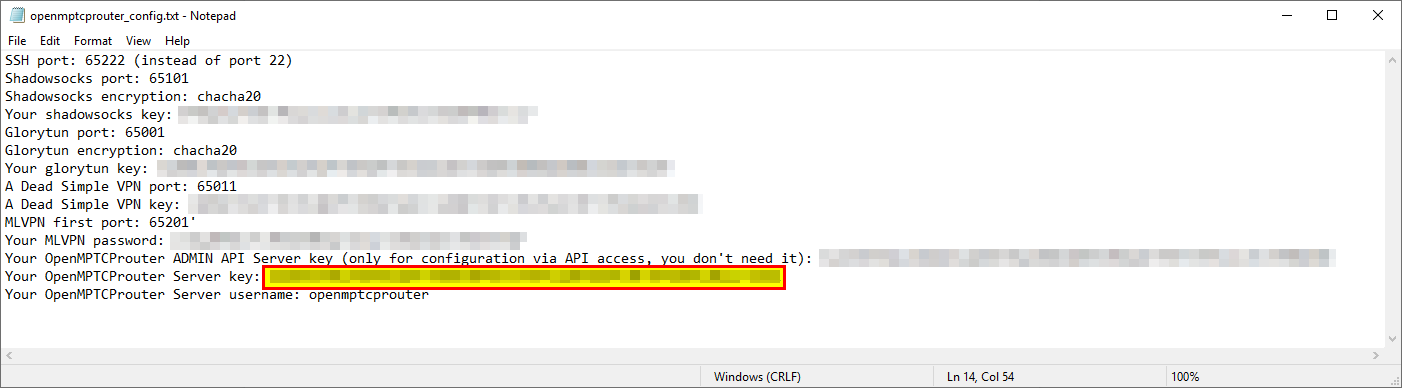 Sample openmptcprouter_config.txt file