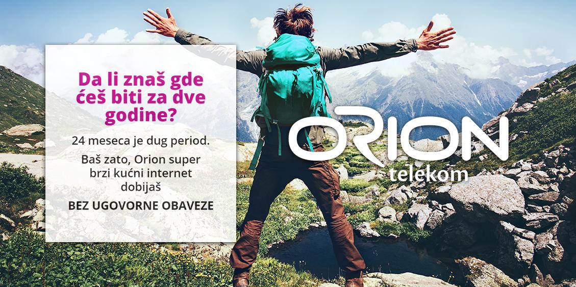 Orion Telekom: Optički Internet bez ugovorne obaveze!