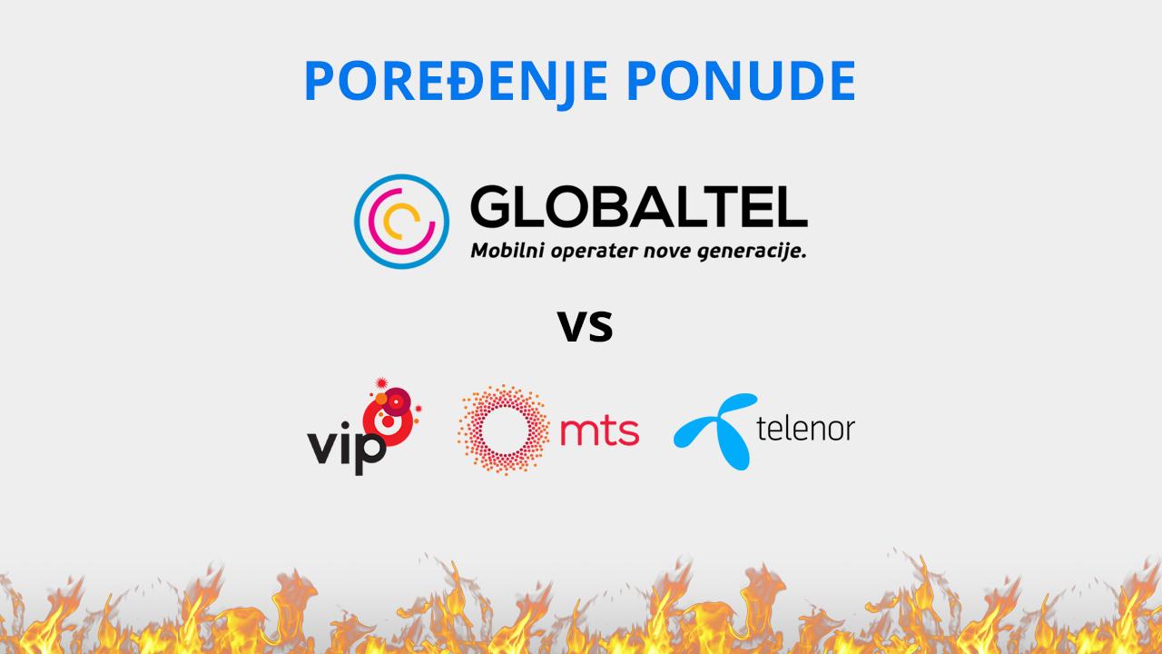 Globaltel protiv sveta - Poređenje ponude mobilnih operatera