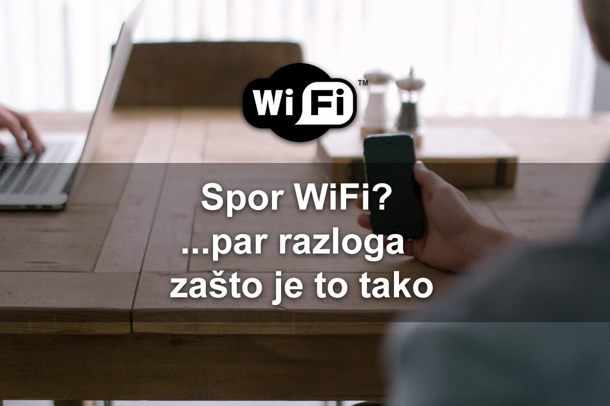 Zašto nemate punu brzinu Interneta preko WiFi?