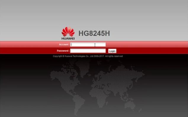 HG8245H Login ekran